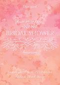 Bridal shower invitation — Stock Vector