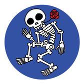Dancing skeletons — Stock Vector