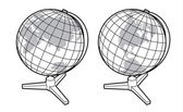 Two views of the earth globe — Vecteur