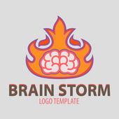 ブレイン ストーム — ストックベクタ