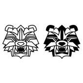 Björn huvud — Stockvektor