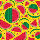 I love watermelon — Vector de stock