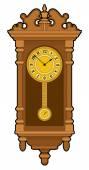 Old retro wall clock — Stock Vector