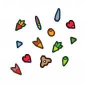 Autumn tree seeds — Stock Vector