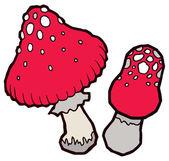 Autumn mellow amanita mushrooms — Stock Vector