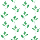Gentle seamless pattern of green leaves — Stock Vector