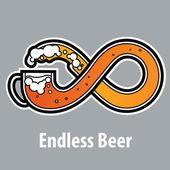 Endless beer sign — Stock Vector