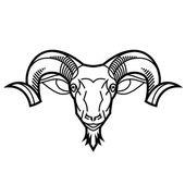 Ram head — Stock Vector