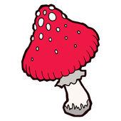 Autumn mellow amanita mushroom — Stock Vector