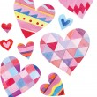 Colorful watercolor vector set of different hearts — Vettoriale Stock  #64138529