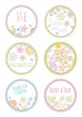 Personalized candy sticker labels set  — Stock Vector