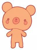 Cute cartoon bear — Stock Vector