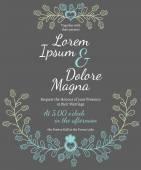 Invitation wedding card  template — Stock Vector