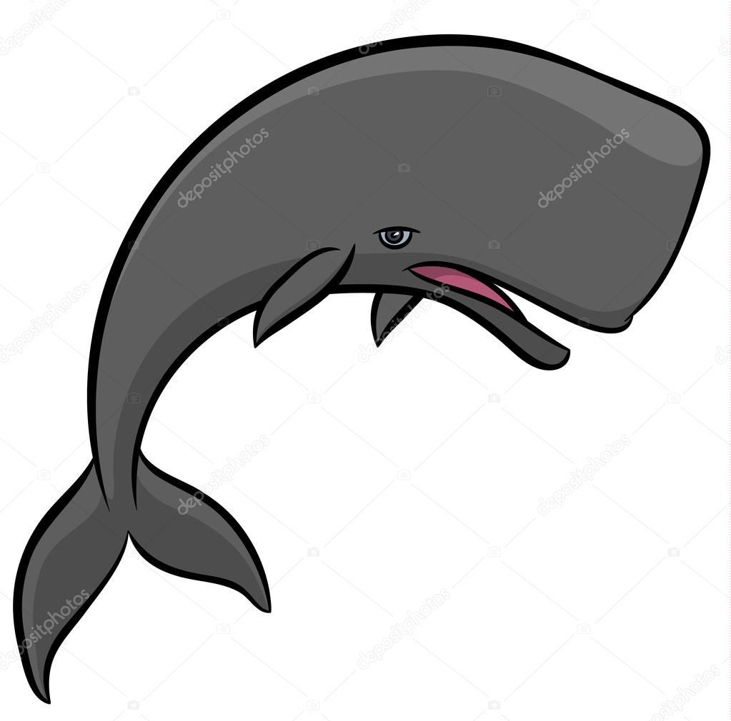 whale cartoon Sperm