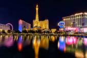 Night illumination, casino, Las Vegas Strip, Nevada, USA — Stock Photo