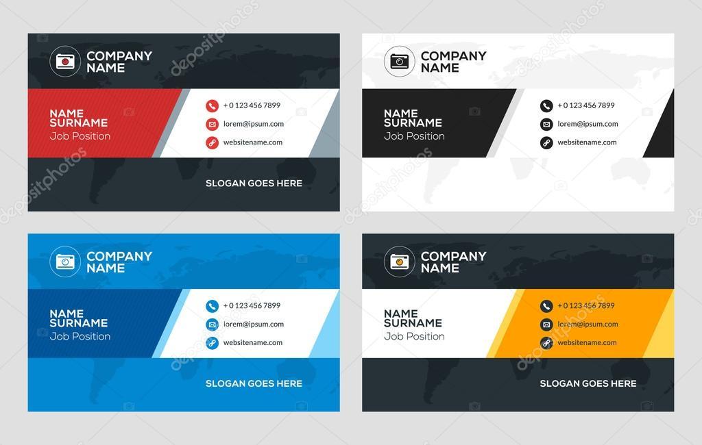 Creative Business Card Template Flat Design Vector
