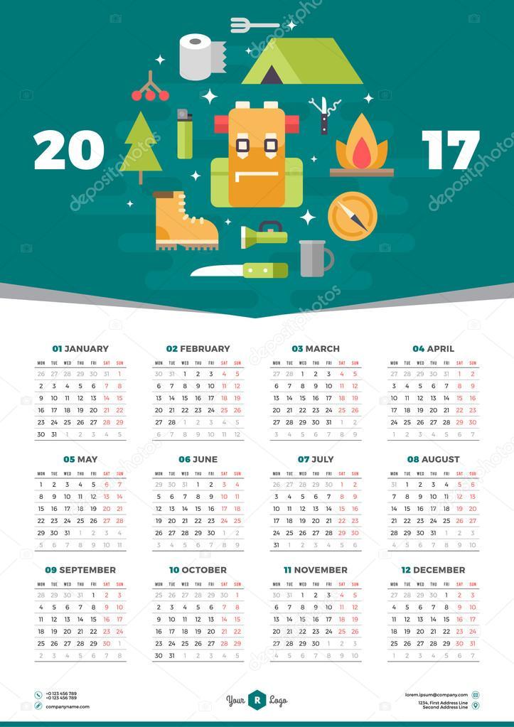 Vector kalender Poster met