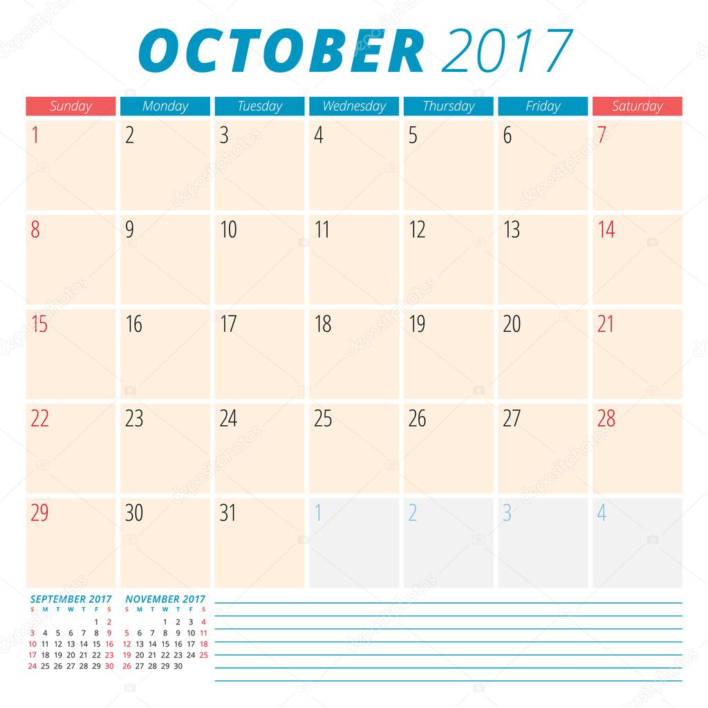 Free Blog Planner Printables for October 2017