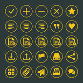 набор иконок веб-сайта векторные элементы дизайна для дизайна — Cтоковый вектор