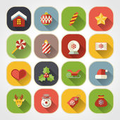 Flat christmas icons for web and applications — Stock Vector