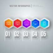 Vector abstract infographic design. Workflow layout template — Vetorial Stock