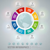 Vector abstract infographic design. Workflow layout template — Stock Vector