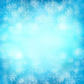 Christmas background with snowflakes and lights. Vector image — Stock Vector