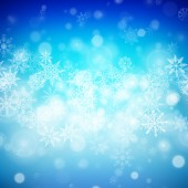 Vánoční pozadí s sněhové vločky a světla. vektorový obrázek — Stock vektor