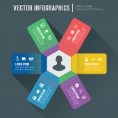 Vector abstract infographic flat design. Workflow layout template — Vector de stock