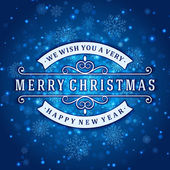 Wesoły Boże Narodzenie wiadomość i jasnym tle ze śniegu. wektor eps ilustracja 10. — Wektor stockowy