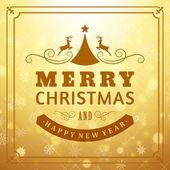 Merry christmas meddelande och ljus bakgrund med snöflingor. vektor illustration eps 10. — Stockvektor
