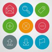 векторные линии набор иконок. веб-дизайн сайта и мобильных приложений — Cтоковый вектор