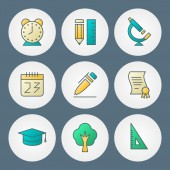 Vector icons set. For web site design and mobile apps — Stock Vector