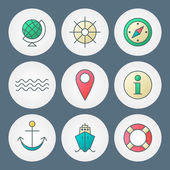 Vector icons set. For web site design and mobile apps — Stock vektor