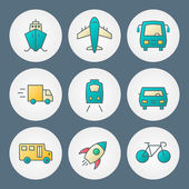Vector icons set. For web site design and mobile apps — Stok Vektör