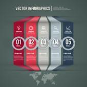 Vektor abstrakte infographik flache bauform. workflow-layout-vorlage — Stockvektor