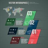 Vector diseño plano abstracto infografía. plantilla de diseño — Vector de stock