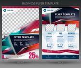 Abstract vector business flyer brochure template — Stock Vector