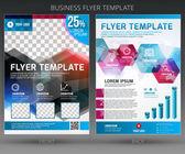 Abstrakt vektor företag flygblad broschyr mall — Stockvektor