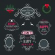 Christmas decoration set of calligraphic and typographic design elements, labels, symbols, icons, objects and holidays wishes — Stock Vector #54402337