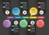 Vector abstract timeline infographic design. Workflow layout template — Stock Vector