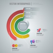 Vector abstracte infographic ontwerp. werkstroomsjabloon lay-out — Stockvector