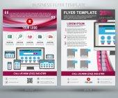 Abstract vector business flyer brochure template. EPS10 — Stock Vector
