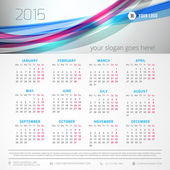Calendar 2015 vector template week starts monday — Stock vektor