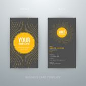 Modern simple business card template — Stock Vector