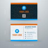 Vector abstract creative business card template. Eps10 — Stock Vector