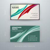 Vector abstract creative business card template. Eps10 — Vecteur