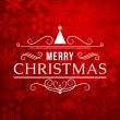 Merry Christmas message and light background with snowflakes. Vector illustration Eps 10.  — Stock Vector #55622739