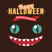 Happy Halloween Poster. Vector illustration.  — Stock Vector