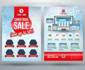 Christmas Sale Vector Business Flyer Template. EPS10 — Vettoriale Stock